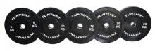 Gumový kotouč BUMPER TUNTURI 25 kg, černý