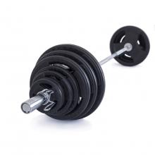 Olympijská činka TRINFIT 130 kg pogumovaná