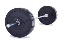 Olympijská činka TRINFIT 80 kg Bumper training