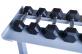 Stojan na jednoručky HEXA a STYL dvouřadý 2,5 m činky 2